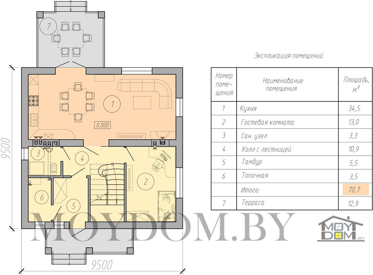 план двухэтажного дома фотография