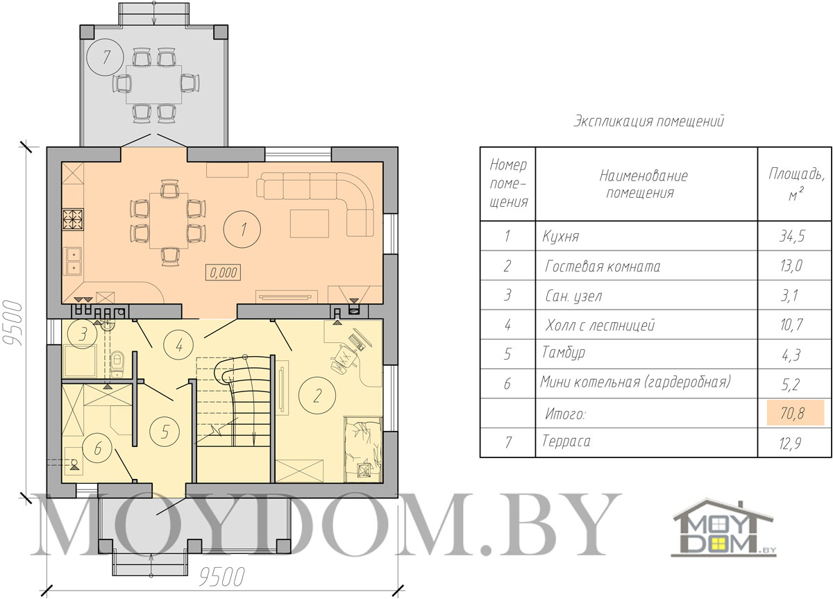 план двухэтажного дома фото